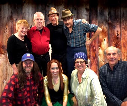 Back row: Lesley, Peter, Ish, Ambrose Front: Evan, Chantal, Fran, Derek