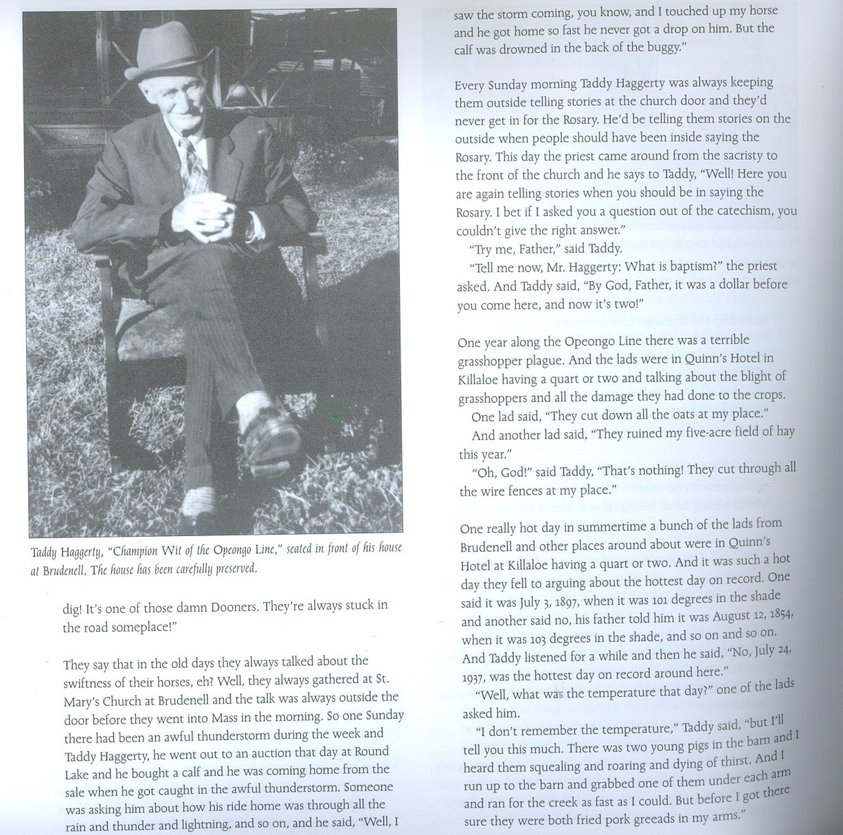 Taddy Hagary stories   A page on Taddy Hagarty from Life Along the Opeongo Line, by Joan Finnigan
